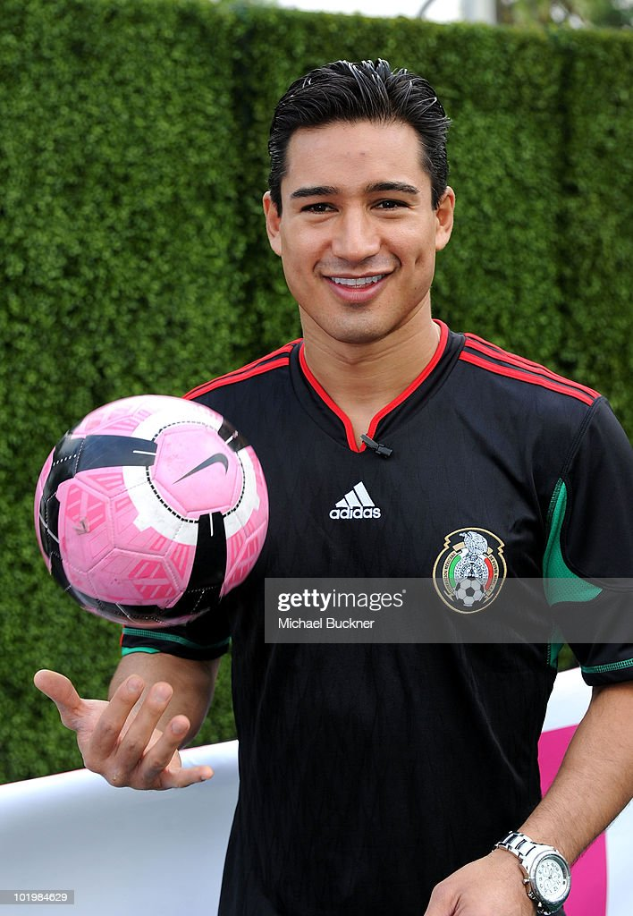 Actor Mario Lopez attends the T-Mobile World Cup Viewing Party at Plaza Mexico on June 11 at Plaza Mexico in Lynwood, CA.
