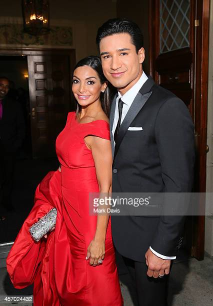 Actor Mario López and Courtney Laine Mazza attend the 2014 NCLR ALMA Awards at the Pasadena Civic Auditorium on October 10 2014 in Pasadena California