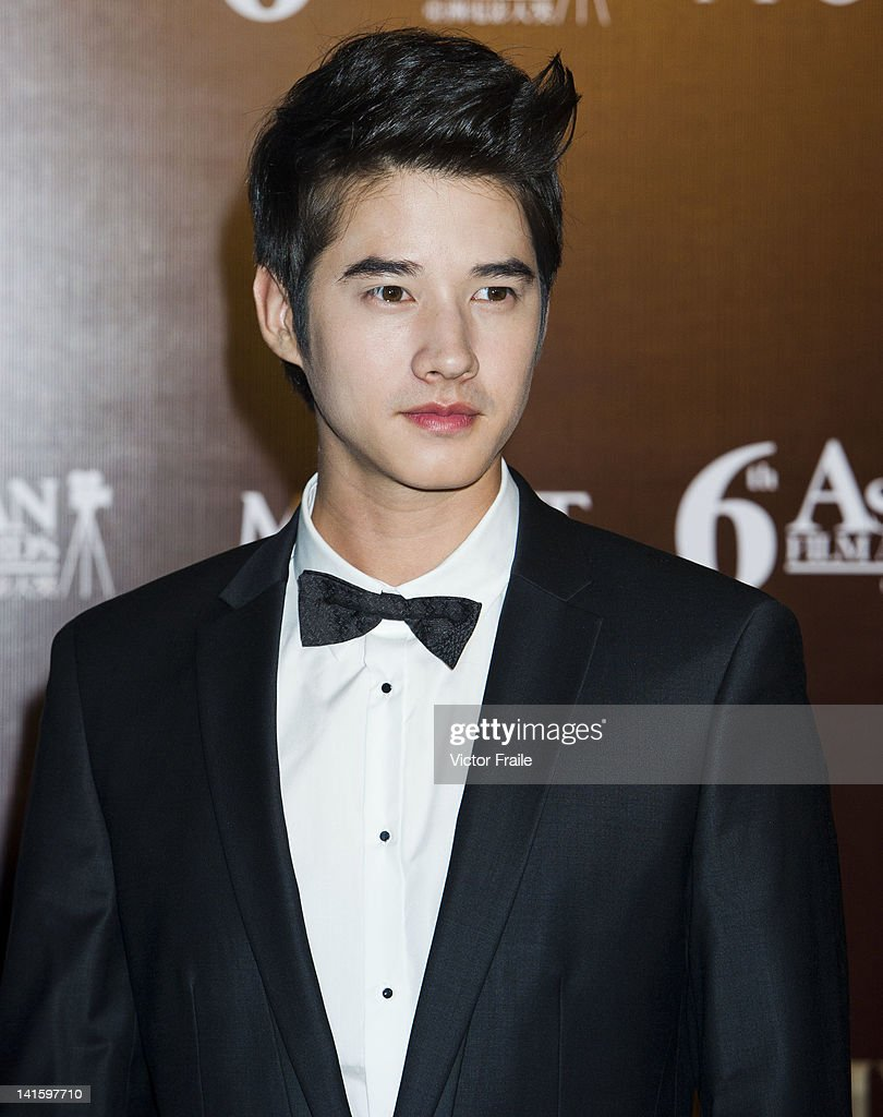 Actor Mario Maurer of Thailand poses at the red carpet during the 6th Asian Film Awards, celebrating excellence in cinema, at Hong Kong Convention and Exhibition Center on 19 March 2012 in Hong Kong, China The event honours specifically filmmakers achievements in the field of Asian cinema, bringing together the best cinematic talent in Asia.