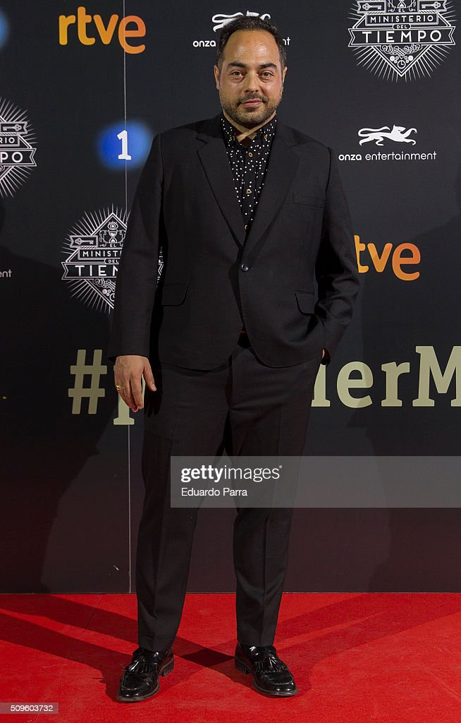 Actor Mario Tardon attends 'El Ministerio del Tiempo' second season premiere at Capitol cinema on February 11, 2016 in Madrid, Spain.