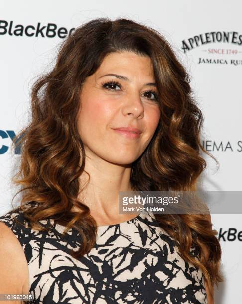Actor Marissa Tomei attends a special screening of 'Cyrus' hosted by The Cinema Society and Verizon BlackBerry Bold at the Crosby Street Hotel on...