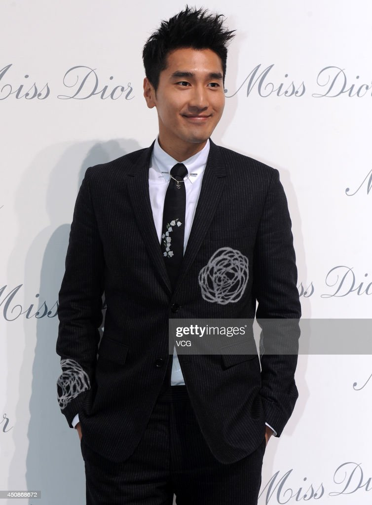 Actor Mark Chao attends Miss Dior exhibition at Shanghai Urban Sculpture Center on June 19, 2014 in Shanghai, China.