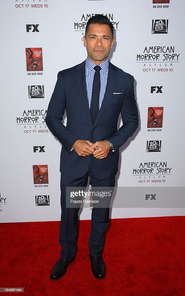 Actor <a gi-track='captionPersonalityLinkClicked' href=/galleries/search?phrase=Mark+Consuelos&family=editorial&specificpeople=234398 ng-click='$event.stopPropagation()'>Mark Consuelos</a> arrives at the Premiere Screening of FX's 'American Horror Story: Asylum' at the Paramount Theatre on October 13, 2012 in Hollywood, California.