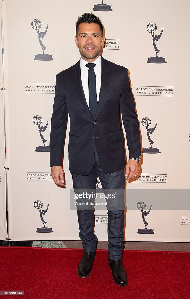 Actor <a gi-track='captionPersonalityLinkClicked' href=/galleries/search?phrase=Mark+Consuelos&family=editorial&specificpeople=234398 ng-click='$event.stopPropagation()'>Mark Consuelos</a> attends The Television Academy presents Amazon Studios at The Television Academy at Leonard H. Goldenson Theatre on November 7, 2013 in North Hollywood, California.