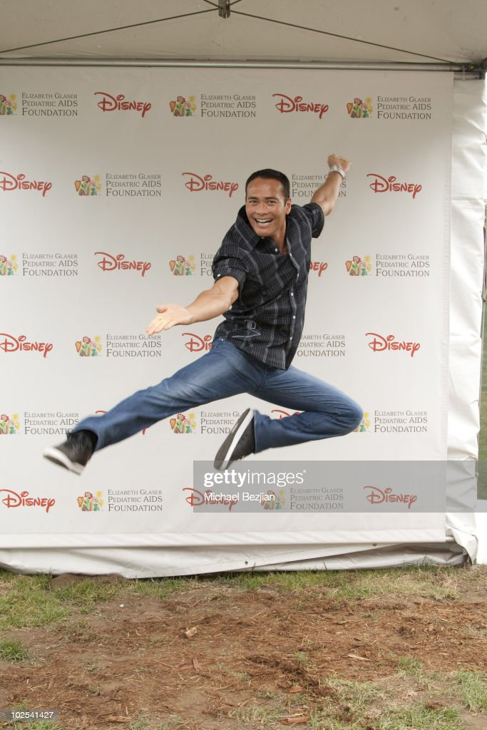 Actor <a gi-track='captionPersonalityLinkClicked' href=/galleries/search?phrase=Mark+Dacascos&family=editorial&specificpeople=3208274 ng-click='$event.stopPropagation()'>Mark Dacascos</a> poses at the 21st Annual 'A Time For Heroes' Celebrity Picnic Benefit - Arrivals at Wadsworth Theater on June 13, 2010 in Los Angeles, California.