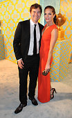 Actor Mark Duplass and actress Katie Aselton attend HBO's post Golden Globe Awards party at The Beverly Hilton Hotel on January 11 2015 in Beverly...