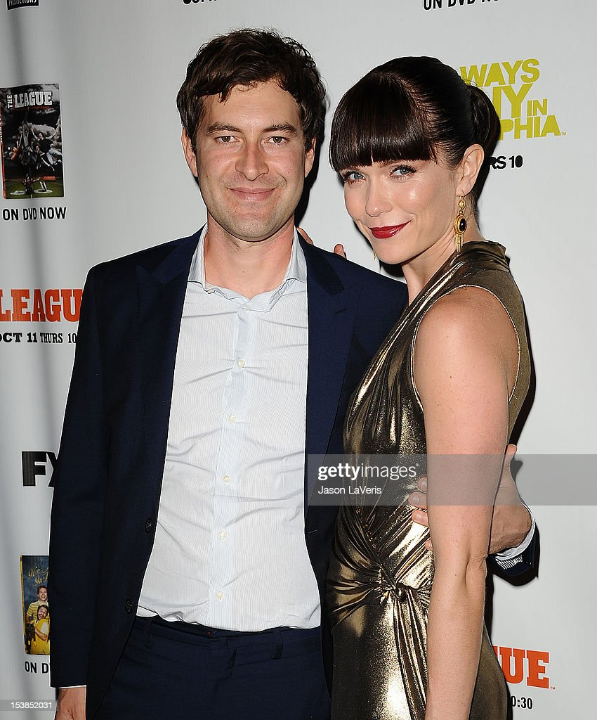 Actor Mark Duplass and actress Katie Aselton attend the FX season premiere screenings for 'It's Always Sunny In Philadelphia' and 'The League' at ArcLight Cinemas Cinerama Dome on October 9, 2012 in Hollywood, California.