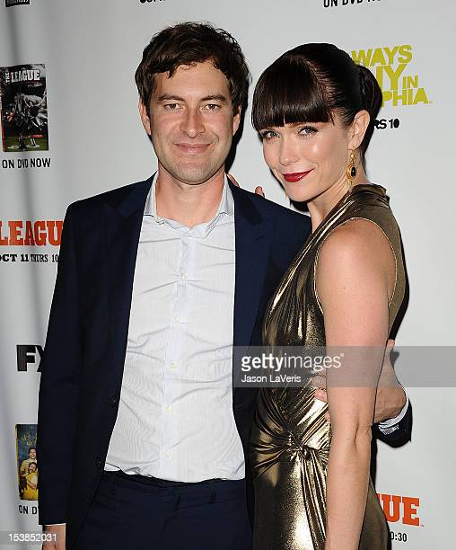 Actor Mark Duplass and actress Katie Aselton attend the FX season premiere screenings for 'It's Always Sunny In Philadelphia' and 'The League' at...