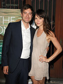 Actor Mark Duplass and actress Katie Aselton attend the premiere of 'The One I Love' at the Vista Theatre on August 7 2014 in Los Angeles California