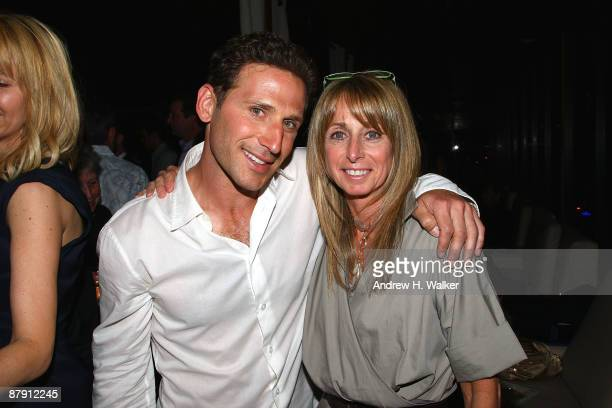 Actor Mark Feuerstein and NBC Universal Cable Entertainment President Bonnie Hammer attend Hamptons and Gotham Magazine's summer celebration with the...