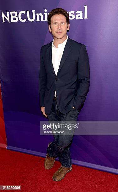 Actor Mark Feuerstein attends the 2016 NBCUniversal Summer Press Day at Four Seasons Hotel Westlake Village on April 1 2016 in Westlake Village...