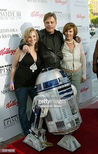 Actor Mark Hamill and his daugter Chelsea and wife Marilou arrive with C3PO to the 'Star Wars Episode III Revenge Of The Sith' Los Angeles Premiere...