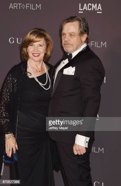 Actor Mark Hamill and Marilou Hamill attend the 2017 LACMA Art Film Gala Honoring Mark Bradford and George Lucas presented by Gucci at LACMA on...