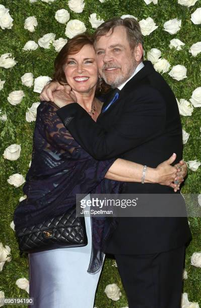 Actor Mark Hamill and Marilou York attend the 71st Annual Tony Awards at Radio City Music Hall on June 11 2017 in New York City