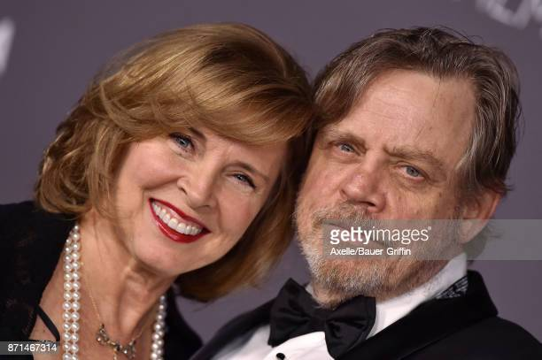 Actor Mark Hamill and wife Marilou York arrive at the 2017 LACMA Art Film Gala at LACMA on November 4 2017 in Los Angeles California