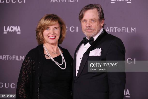 Actor Mark Hamill and wife Marilou York attend the 2017 LACMA Art Film gala at LACMA on November 4 2017 in Los Angeles California