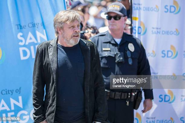 Actor Mark Hamill arrives at a ceremony dedicating Mark Hamill Drive on July 30 2017 in San Diego California