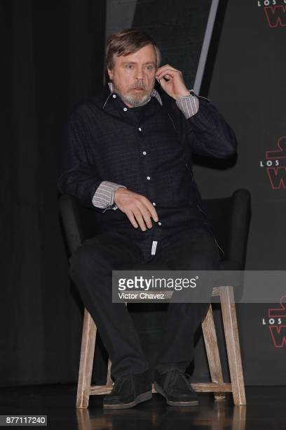 Actor Mark Hamill attends a press conference to promote the new film 'Star Wars The Last Jedi' at St Regis Hotel on November 21 2017 in Mexico City...