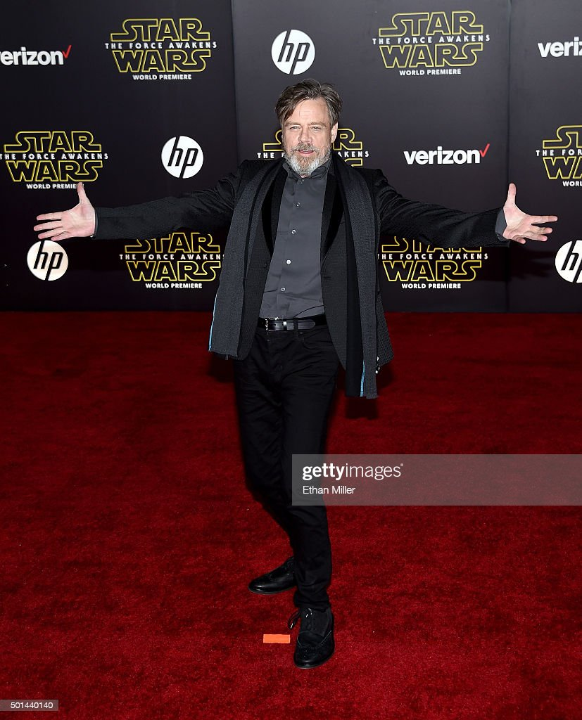 Actor Mark Hamill attends the premiere of Walt Disney Pictures and Lucasfilm's 'Star Wars The Force Awakens' at the Dolby Theatre on December 14 2015...