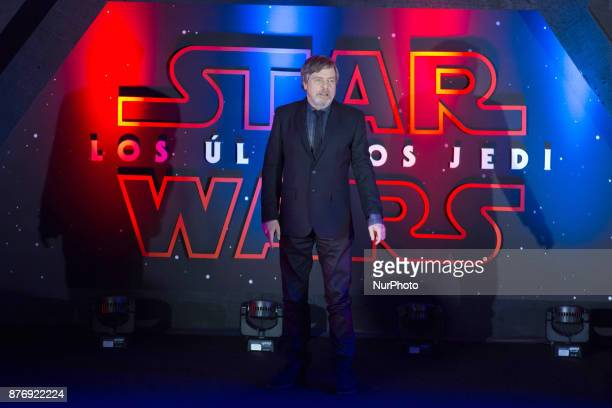 Actor Mark Hamill is seen attending at black carpet of the Star Wars The Last Jedi film premiere at Cinepolis Oasis Coyoacan on November 20 2017 in...