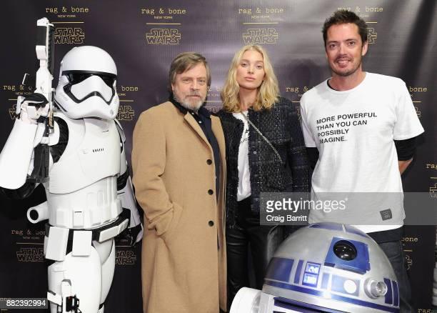 Actor Mark Hamill model Elsa Hosk and designer Marcus Wainwright attend as rag bone and Disney celebrate the launch of the rag bone X Star Wars...