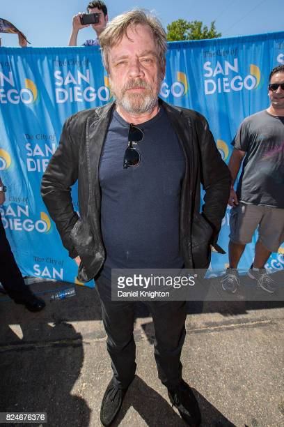 Actor Mark Hamill of Star Wars poses at a ceremony renaming a street in his honor on July 30 2017 in San Diego California