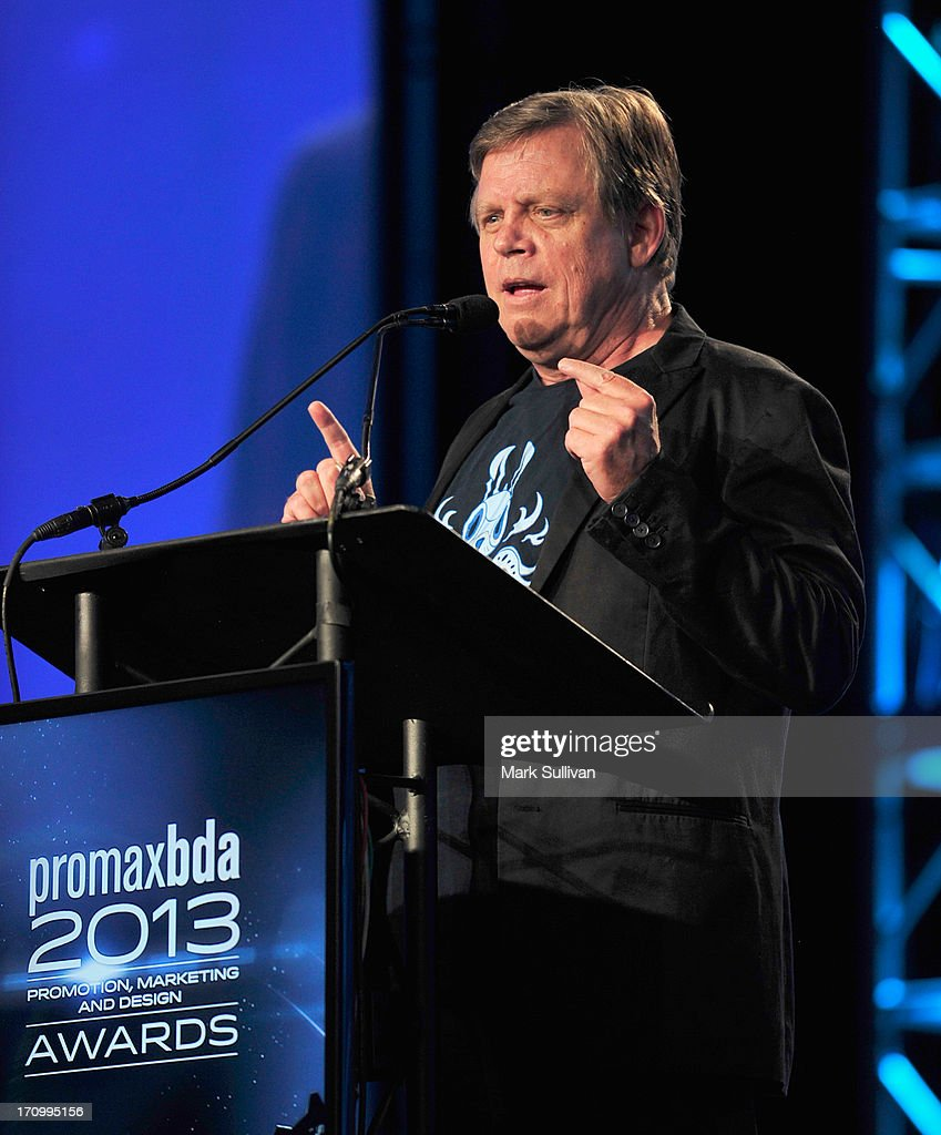 Actor <a gi-track='captionPersonalityLinkClicked' href=/galleries/search?phrase=Mark+Hamill&family=editorial&specificpeople=206396 ng-click='$event.stopPropagation()'>Mark Hamill</a> receives the Don LaFontaine Award at PromaxBDA Promotion, Marketing And Design Awards Show at JW Marriott Los Angeles at L.A. LIVE on June 20, 2013 in Los Angeles, California.