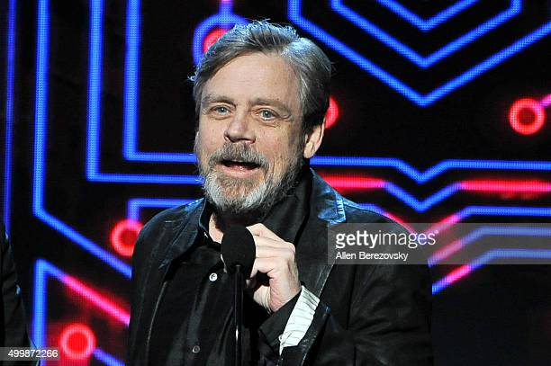 Actor Mark Hamill speaks onstage during The Game Awards 2015 at Microsoft Theater on December 3 2015 in Los Angeles California