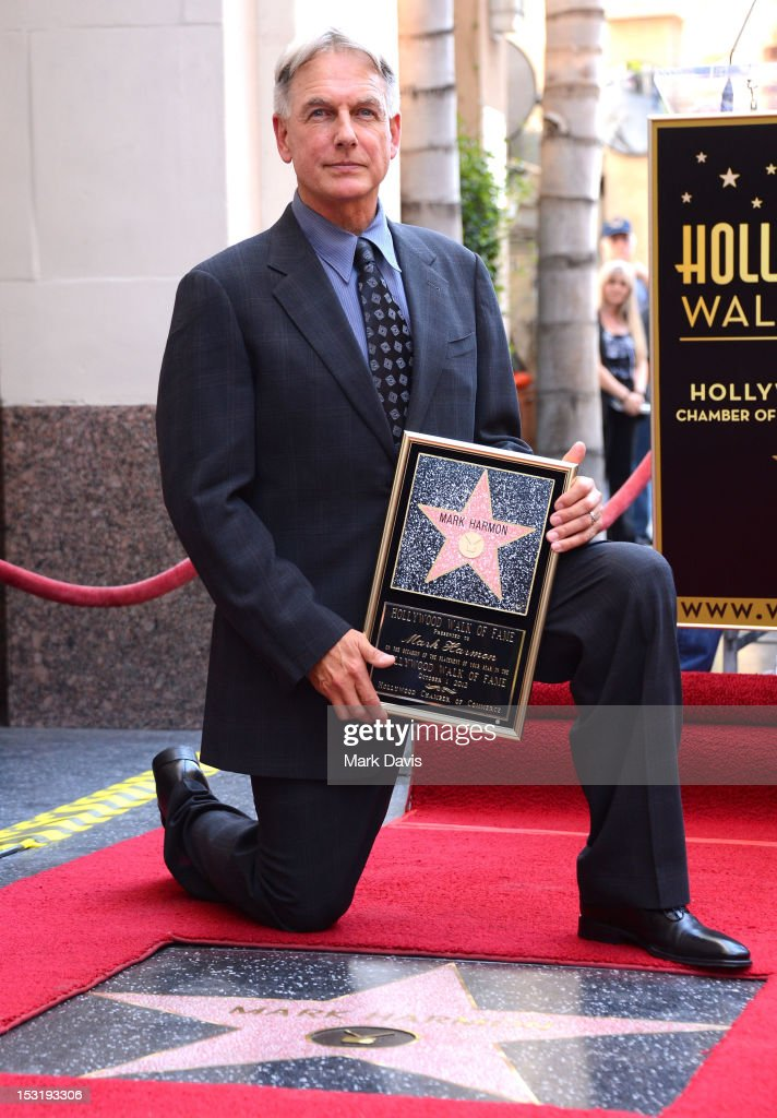 Actor <a gi-track='captionPersonalityLinkClicked' href=/galleries/search?phrase=Mark+Harmon&family=editorial&specificpeople=208897 ng-click='$event.stopPropagation()'>Mark Harmon</a> is honored with the 2,482nd star on the Hollywood Walk of Fame on October 1, 2012 in Hollywood, California.