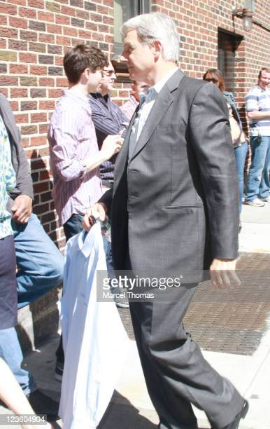 Actor Mark Harmon is seen arriving at the 'Late Show With David Letterman' at the Ed Sullivan Theater on May 10 2011 in New York City