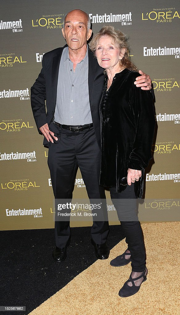 Actor Mark Margolis and his guest attend the 2012 Entertainment Weekly Pre-Emmy Party at the Fig & Olive on September 21, 2012 in West Hollywood, California.