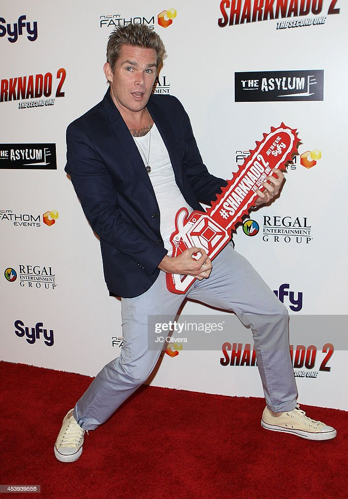 Actor Mark McGrath attends 'Sharknado 2 The Second One' Los Angeles Premiere at LA Live on August 21 2014 in Los Angeles California