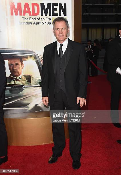 Actor Mark Moses attends the AMC celebration of the final 7 episodes of 'Mad Men' with the Black Red Ball at the Dorothy Chandler Pavilion on March...