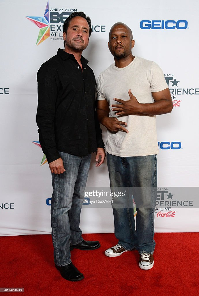 Actor Mark Parra (L) and author Diallo Frazier attend the BETX Film Festival presented by Geico during the 2014 BET Experience At L.A. LIVE on June 28, 2014 in Los Angeles, California.