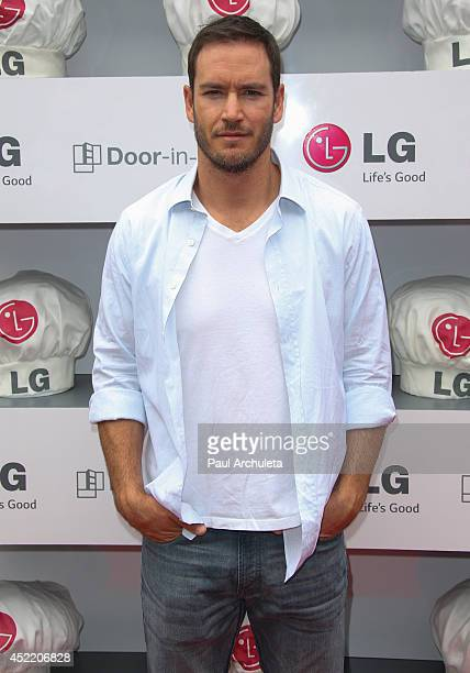 Actor Mark Paul Gosselaar attends the Junior Chef Academy event at The Washbow on July 15 2014 in Culver City California