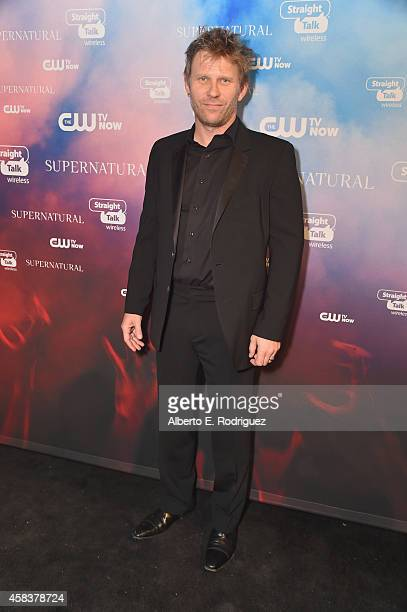 Actor Mark Pellegrino attends the CW's Fan Party to Celebrate the 200th episode of 'Supernatural' on November 3 2014 in Los Angeles California