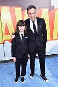 Actor Mark Ruffalo and Bella Ruffalo attend The 2015 MTV Movie Awards at Nokia Theatre LA Live on April 12 2015 in Los Angeles California