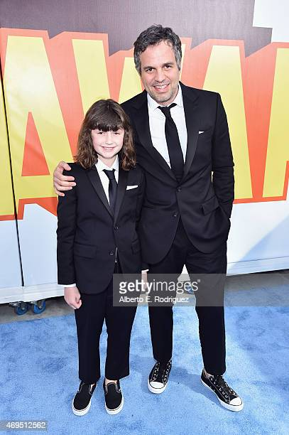 Actor Mark Ruffalo and Bella Ruffalo attend The 2015 MTV Movie Awards at Nokia Theatre LA Live on April 12 2015 in Los Angeles California