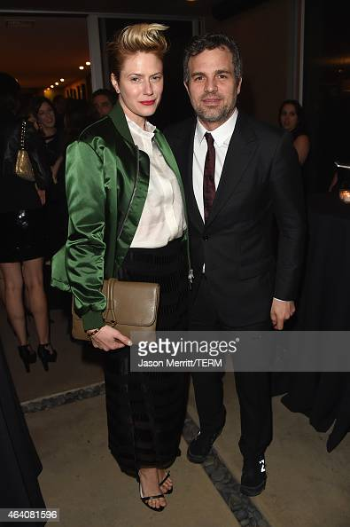 Actor Mark Ruffalo and Sunrise Coigney attend Sony Pictures Entertainment Celebrates its' Nominees along with GREY GOOSE Vodka at Private Residence...
