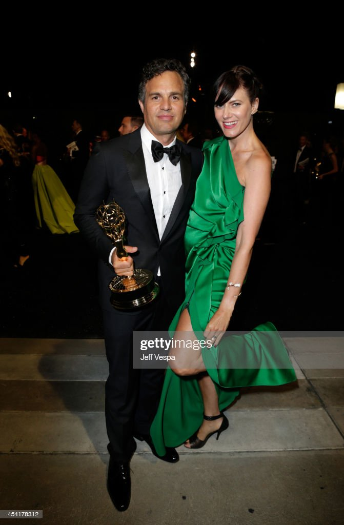 Actor Mark Ruffalo (L) and Sunrise Coigney attend the 66th Annual Primetime Emmy Awards Governors Ball held at Los Angeles Convention Center on August 25, 2014 in Los Angeles, California.