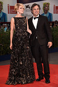 Actor Mark Ruffalo and Sunrise Coigney attend the premiere of 'Spotlight' during the 72nd Venice Film Festival on September 3 2015 in Venice Italy