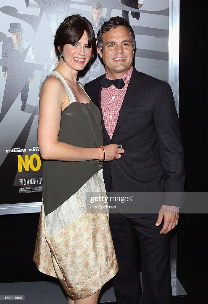 Actor <a gi-track='captionPersonalityLinkClicked' href=/galleries/search?phrase=Mark+Ruffalo&family=editorial&specificpeople=209317 ng-click='$event.stopPropagation()'>Mark Ruffalo</a> (R) and wife <a gi-track='captionPersonalityLinkClicked' href=/galleries/search?phrase=Sunrise+Coigney&family=editorial&specificpeople=235782 ng-click='$event.stopPropagation()'>Sunrise Coigney</a> attend the 'Now You See Me' premiere at AMC Lincoln Square Theater on May 21, 2013 in New York City.