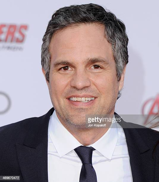 Actor Mark Ruffalo arrives at the Los Angeles Premiere Marvel's 'Avengers Age Of Ultron' at Dolby Theatre on April 13 2015 in Hollywood California