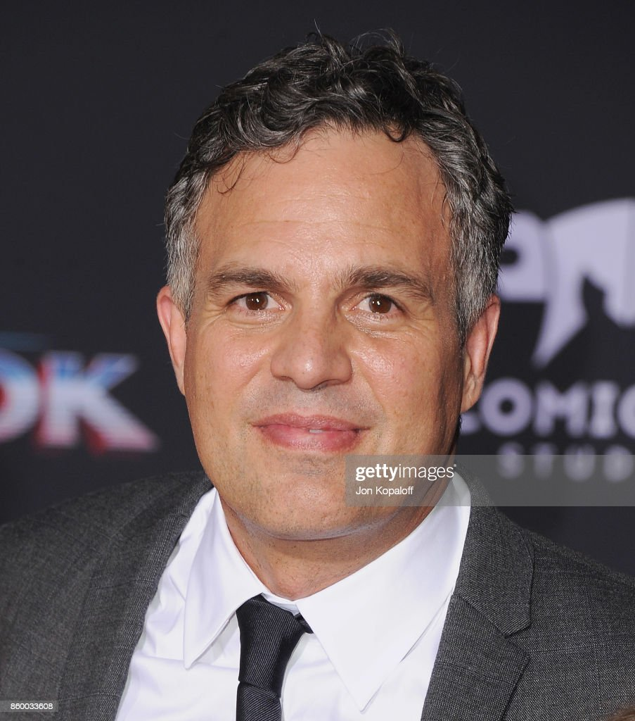 Actor Mark Ruffalo arrives at the Los Angeles Premiere 'Thor: Ragnarok' on October 10, 2017 in Hollywood, California.