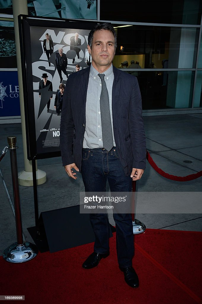 Actor <a gi-track='captionPersonalityLinkClicked' href=/galleries/search?phrase=Mark+Ruffalo&family=editorial&specificpeople=209317 ng-click='$event.stopPropagation()'>Mark Ruffalo</a> arrives at the Screening Of Summit Entertainment's 'Now You See Me' at ArcLight Hollywood on May 23, 2013 in Hollywood, California.
