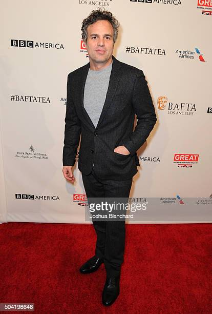 Actor Mark Ruffalo attends the BAFTA Los Angeles Awards Season Tea at Four Seasons Hotel Los Angeles at Beverly Hills on January 9 2016 in Los...