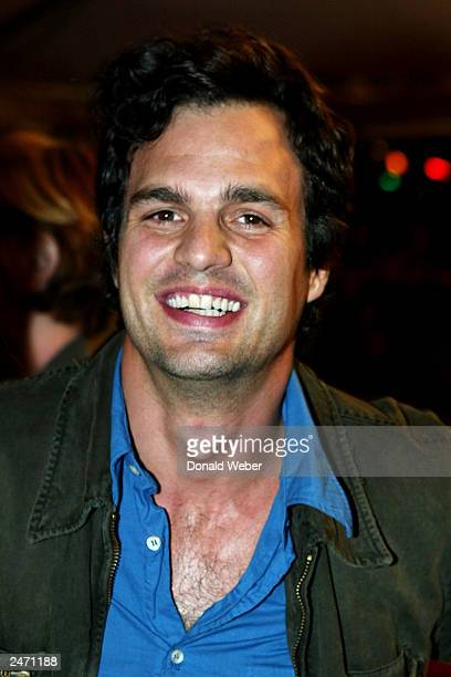Actor Mark Ruffalo attends the gala screening for 'Girl With A Pearl Earring' during the 2003 Toronto International Film Festival on September 7 2003...