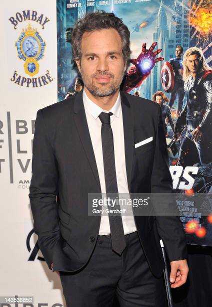 Actor Mark Ruffalo attends the 'Marvel's The Avengers' premiere during the closing night of the 2012 Tribeca Film Festival at BMCC Tribeca PAC on...