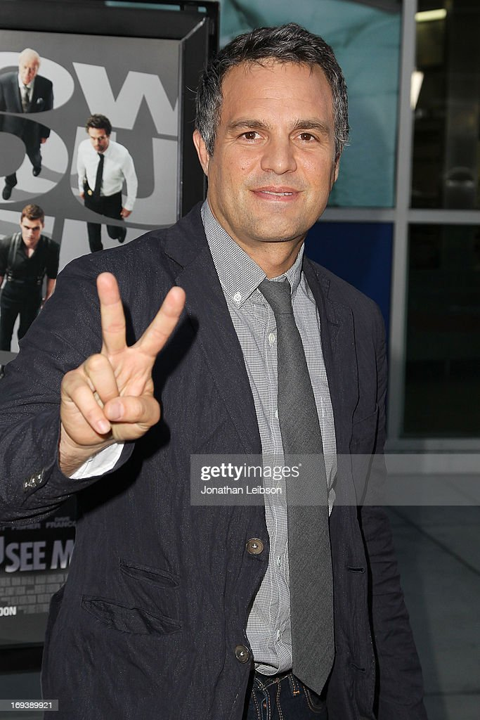Actor <a gi-track='captionPersonalityLinkClicked' href=/galleries/search?phrase=Mark+Ruffalo&family=editorial&specificpeople=209317 ng-click='$event.stopPropagation()'>Mark Ruffalo</a> attends the 'Now You See Me' - Los Angeles Special Screening at ArcLight Hollywood on May 23, 2013 in Hollywood, California.