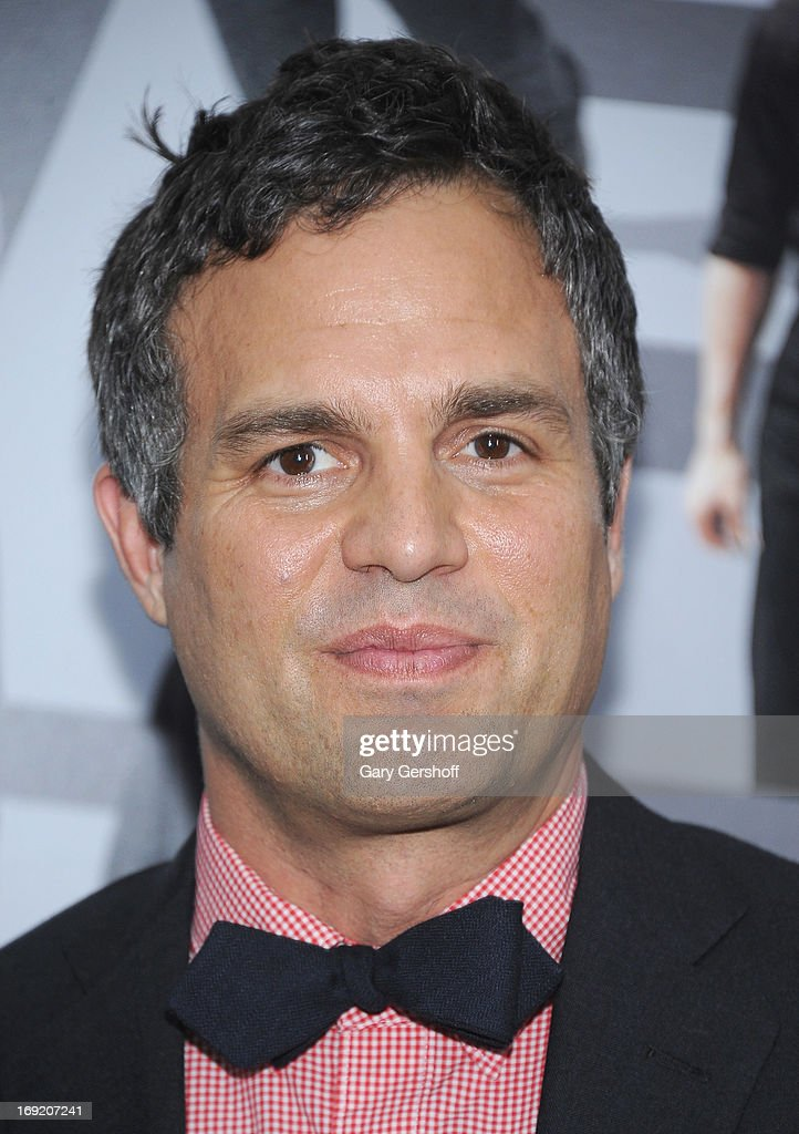 Actor <a gi-track='captionPersonalityLinkClicked' href=/galleries/search?phrase=Mark+Ruffalo&family=editorial&specificpeople=209317 ng-click='$event.stopPropagation()'>Mark Ruffalo</a> attends the 'Now You See Me' premiere at AMC Lincoln Square Theater on May 21, 2013 in New York City.